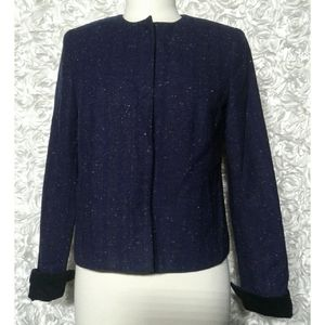Gap Women's Tweed colorless Blazer Jacket …